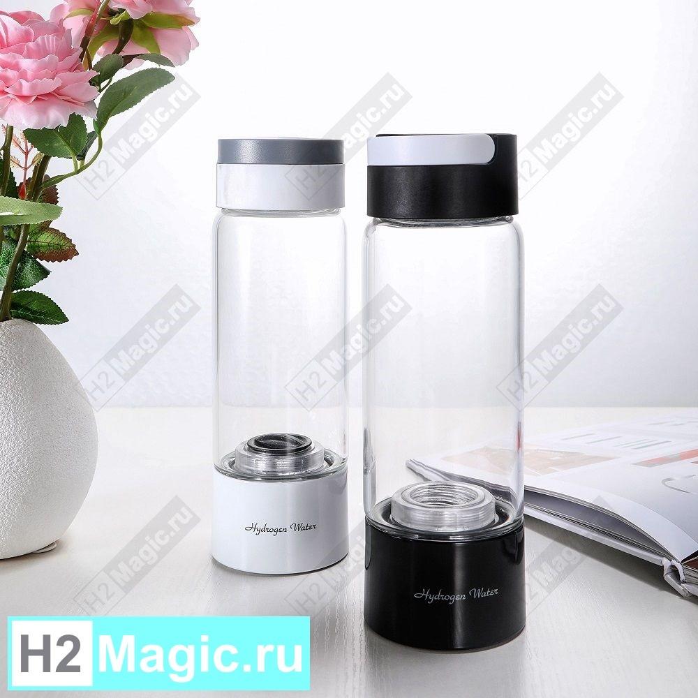 Генератор водородной воды H2Magic Q10 PLUS (с функцией дыхания) Стекло 450 мл Белый
