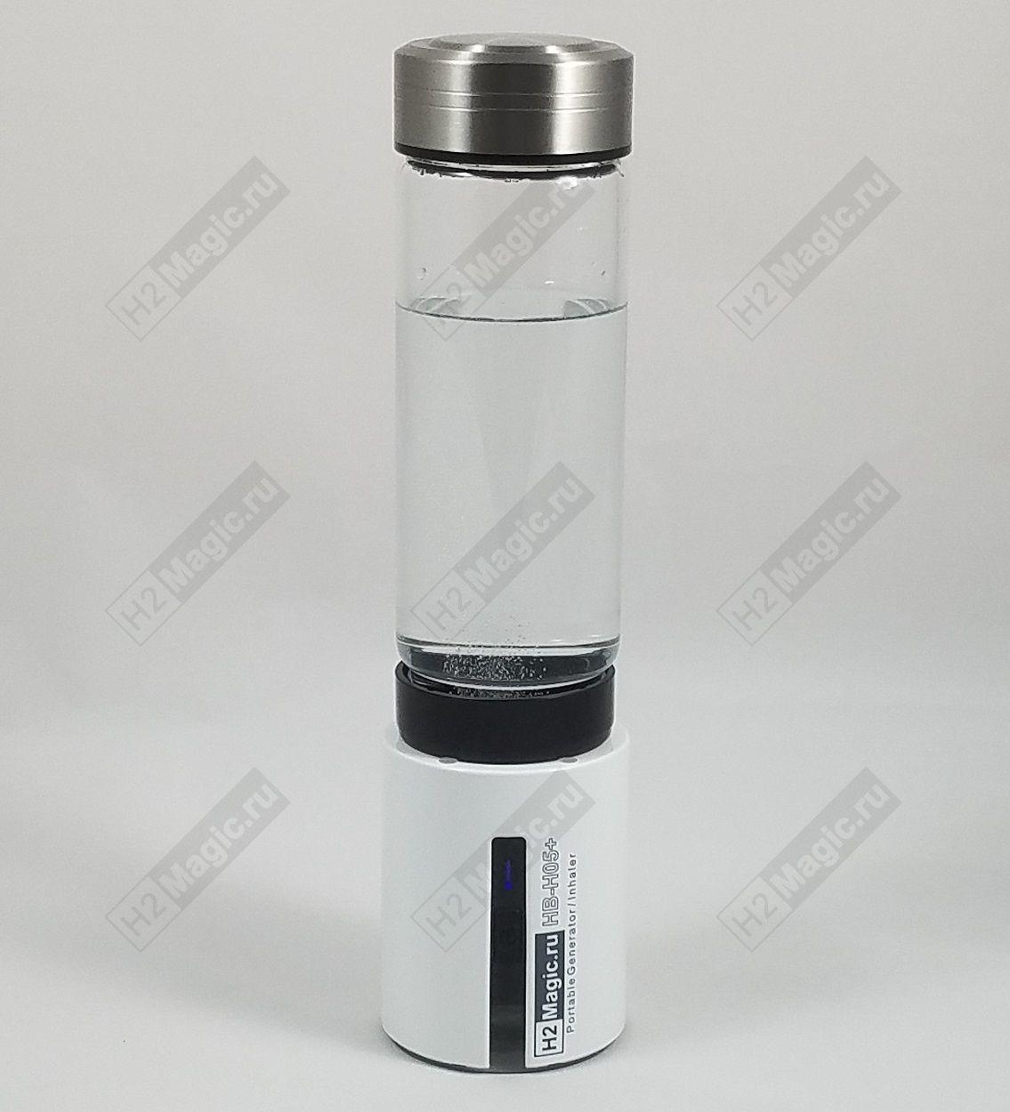 Генератор/Ингалятор водорода H2Magic H05+LE (N117Pt) Стекло 450 мл, ПЭТ 24/28, Звук