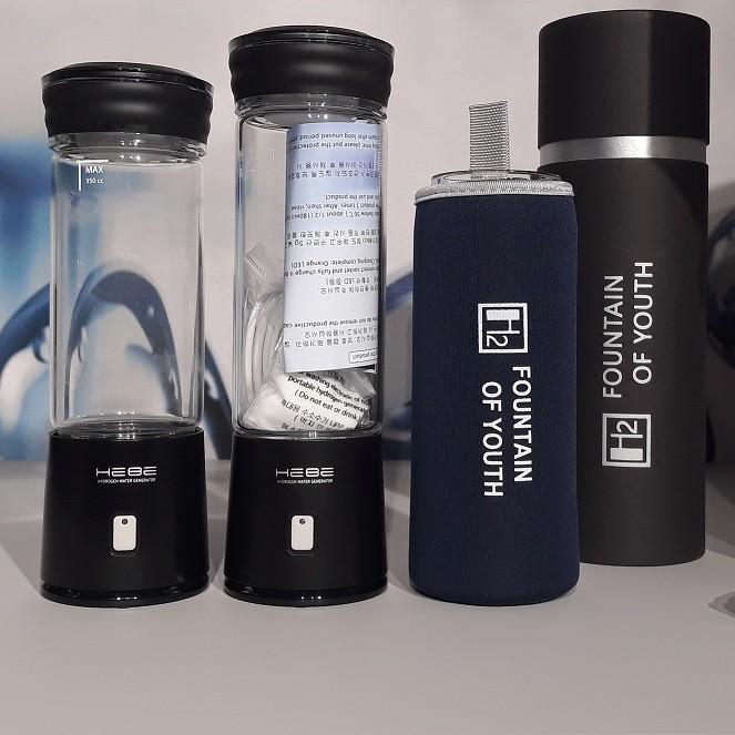 Генератор водородной воды HEBE Portable Black (Стекло 350 мл, Чёрный, Дренаж)