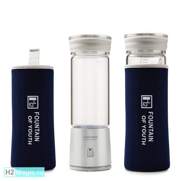Генератор водородной воды HEBE EGP-1000 Silver (Стекло 350мл, Дренаж) Серебристый