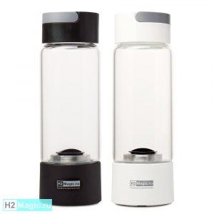 ДВА Генератора водородной воды H2Magic Q10 Стекло 450мл (2шт со Скидкой)