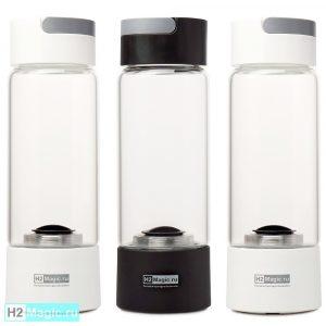 ТРИ Генератора водородной воды H2Magic Q10 Стекло 450мл (3шт со Скидкой)