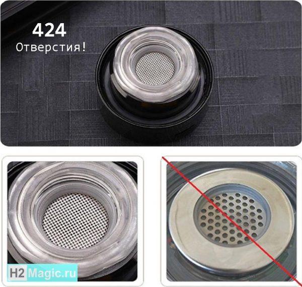 Портативный Генератор водорода H2Magic Q10 PLUS (с функцией дыхания) Стекло 450мл Чёрный