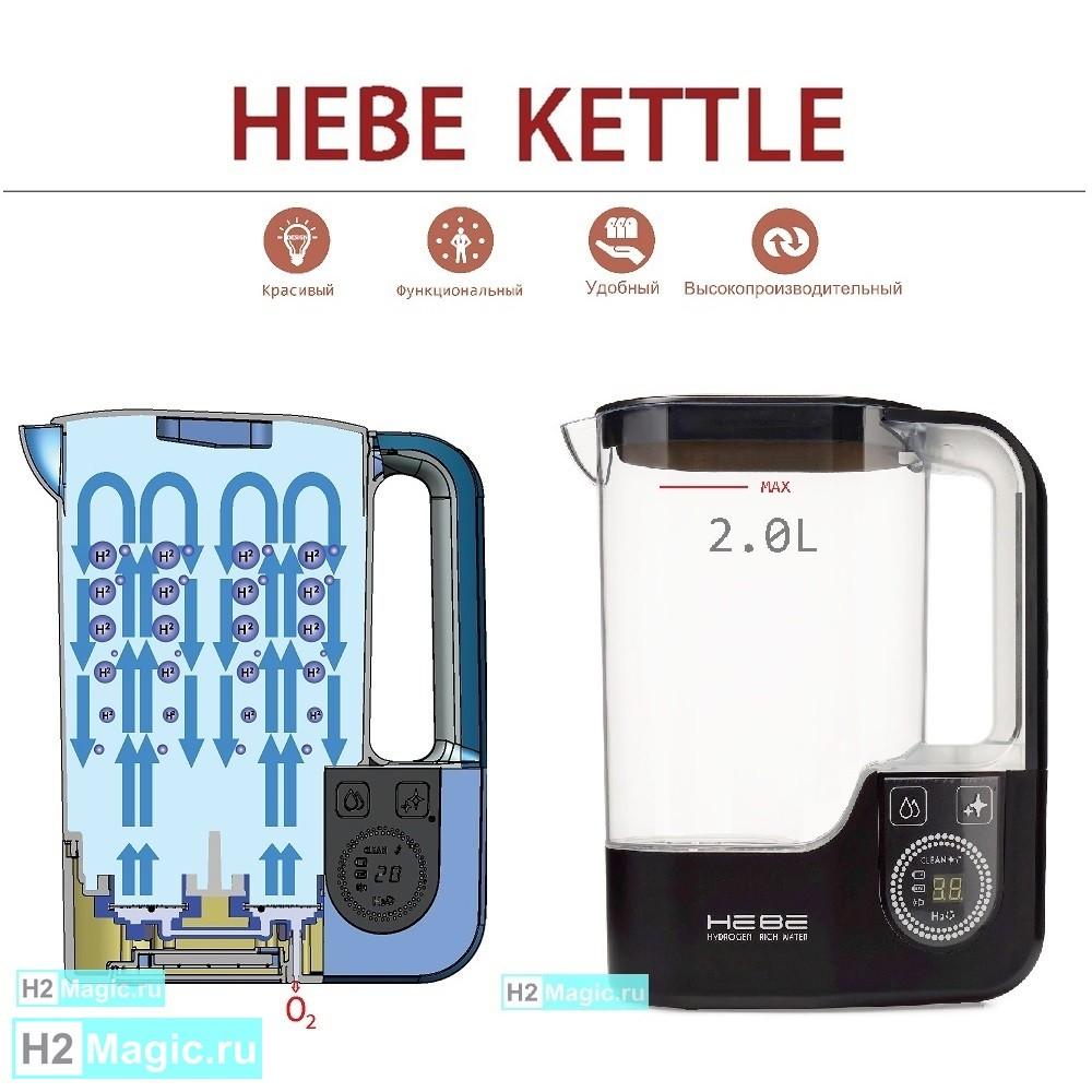 Генератор-кувшин Водородной воды HEBE KETTLE 2.0L