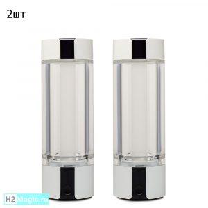 ДВА Мобильных Генератор/Ингалятора водорода H2Magic C30 Snow White, 230 мл, 5в1 (Белый) (Комплект 2 шт.)