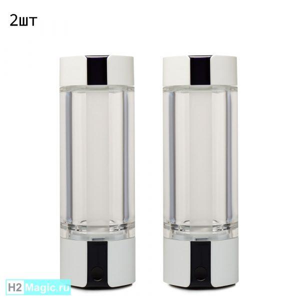 ДВА Мобильных Генератор/Ингалятора водорода H2Magic C30 PLUS Snow White, 230 мл, 5в1 (Белый) (2шт со Скидкой)