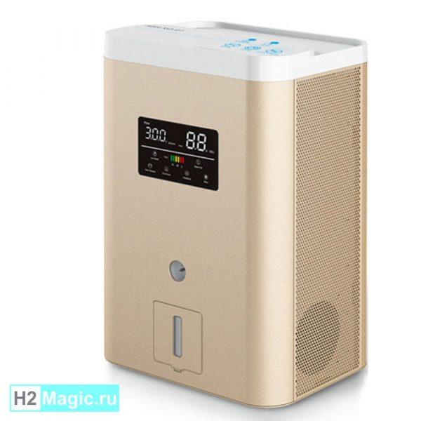 Генератор/Ингалятор Водорода+Кислорода H2Magic Hi-1000 Gold +NanoRod, H2+O2=660+340 ml/min, LED, увлажнитель/затвор)