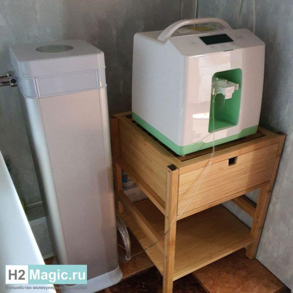 СПА-Комплекс H2Magic 8-Core для ванны/душа без электролиза и насоса (Генератор водорода H2Magic HIG-600PRO + смеситель 8-core nano Milky SPA-8/600)