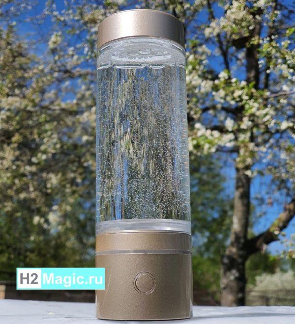 ДВА Мобильных Генератор/Ингалятора водорода H2Magic N40 White (240мл, переходник ПЭТ 24-28мм) (2ШТ со скидкой)