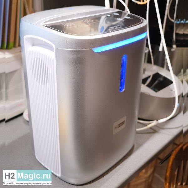 Генератор/Ингалятор Водорода/Кислорода H2Magic Hi-600/2 PRO Silver (два выхода H2 330+330мл/мин + O2 330 ml/min, 2 раздельных увлажнителя)